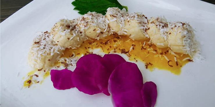 Basisches Dessert - Banane und Mango
