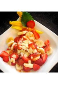 Basische Rezepte – Dessert mit Mango-Melissen-Dressing