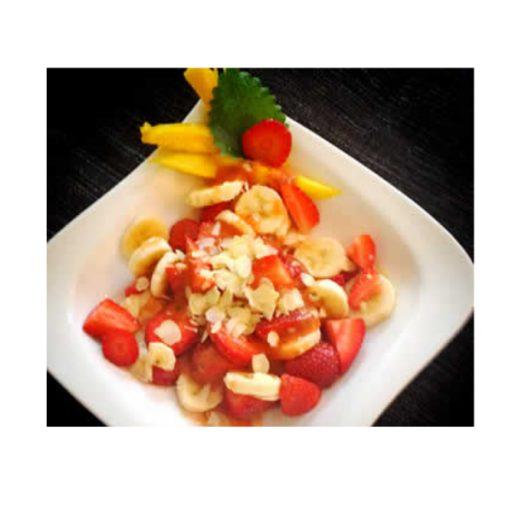 Dessert mit vielen gesunden Basen aus Früchten.
