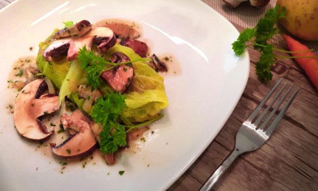 Gemüserouladen mit Champignons